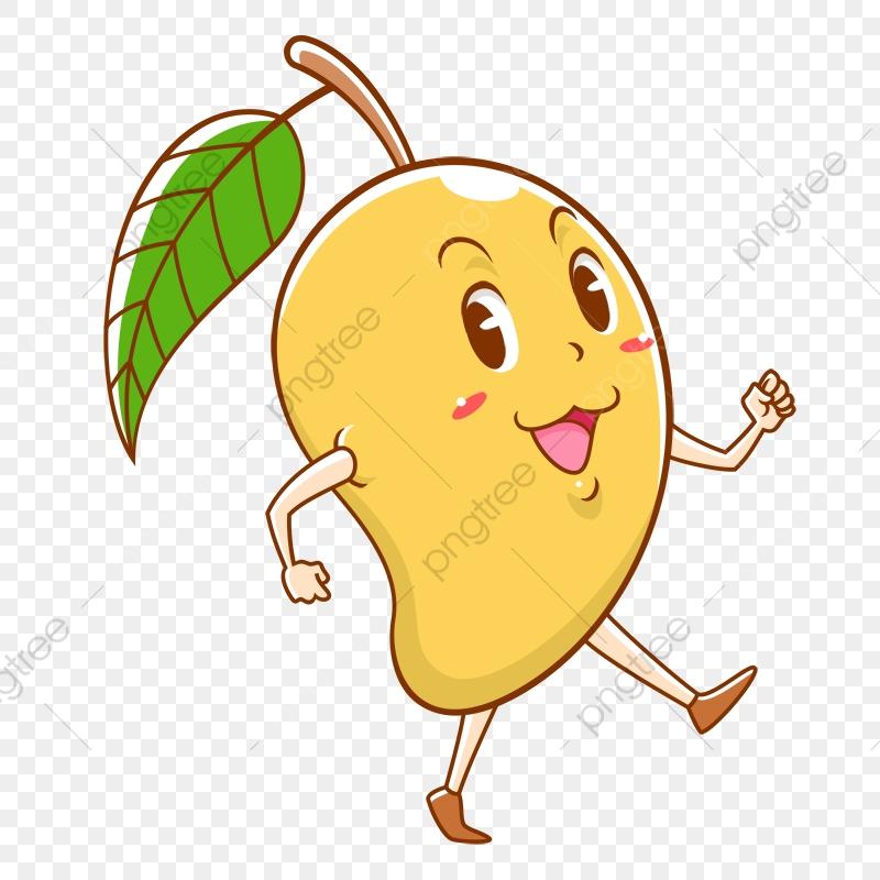 Clipart walking walk. Mango happy