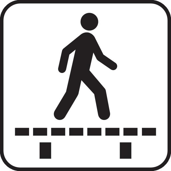 Clipart walking walk signal. Sign clip art at
