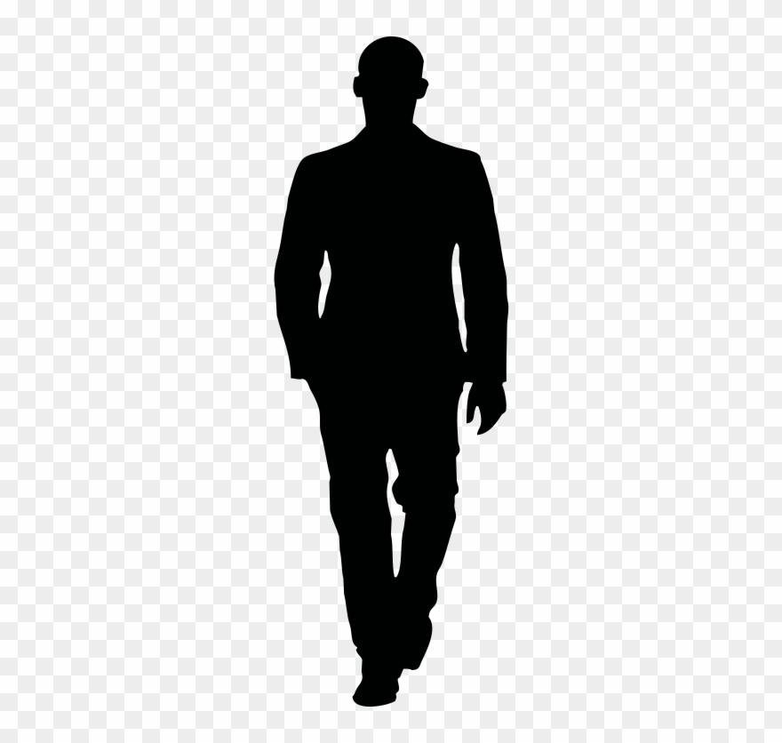 Clipart walking walking away. Medium image person silhouette