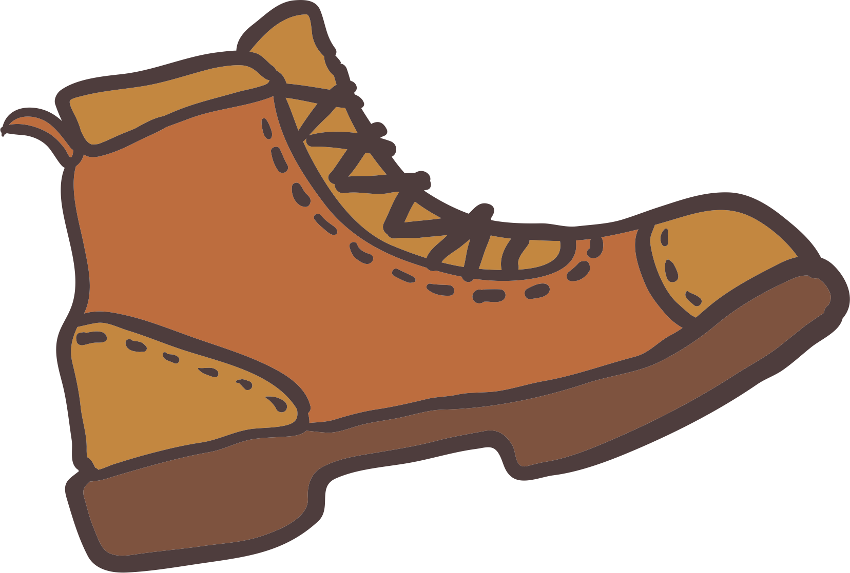 Hike clipart brown boot. Clip art outdoor boots