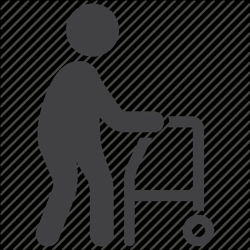 Clipart walking walking frame.  medical specialties set