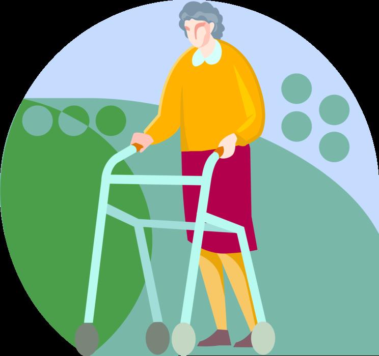 Walker or cane vector. Clipart walking walking frame