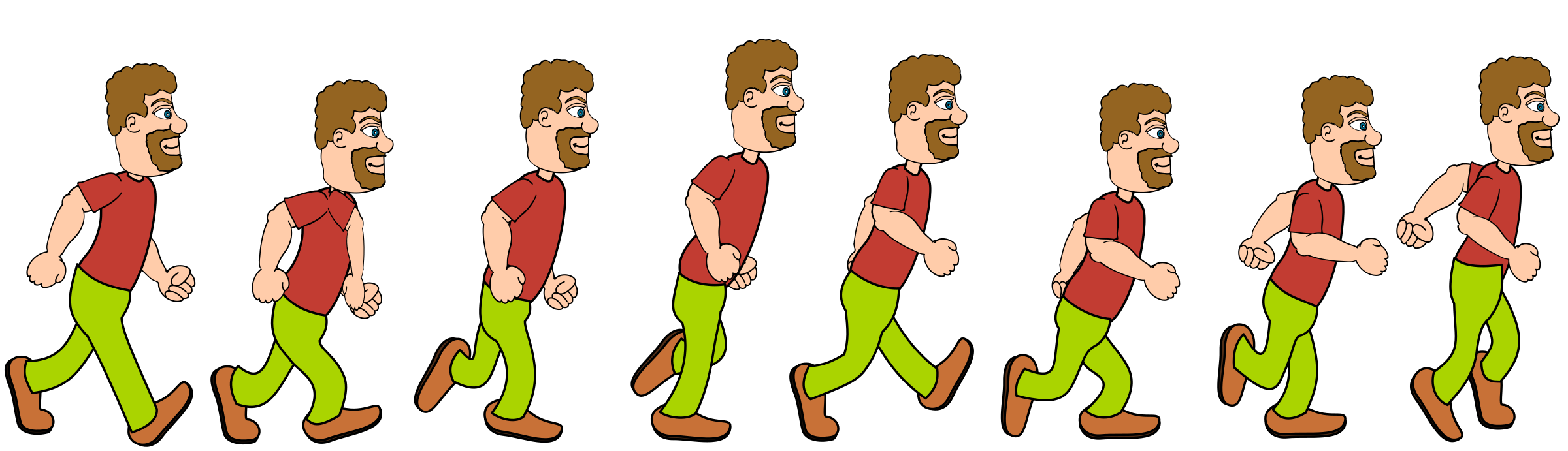 Conversation clipart walking. With torso head and