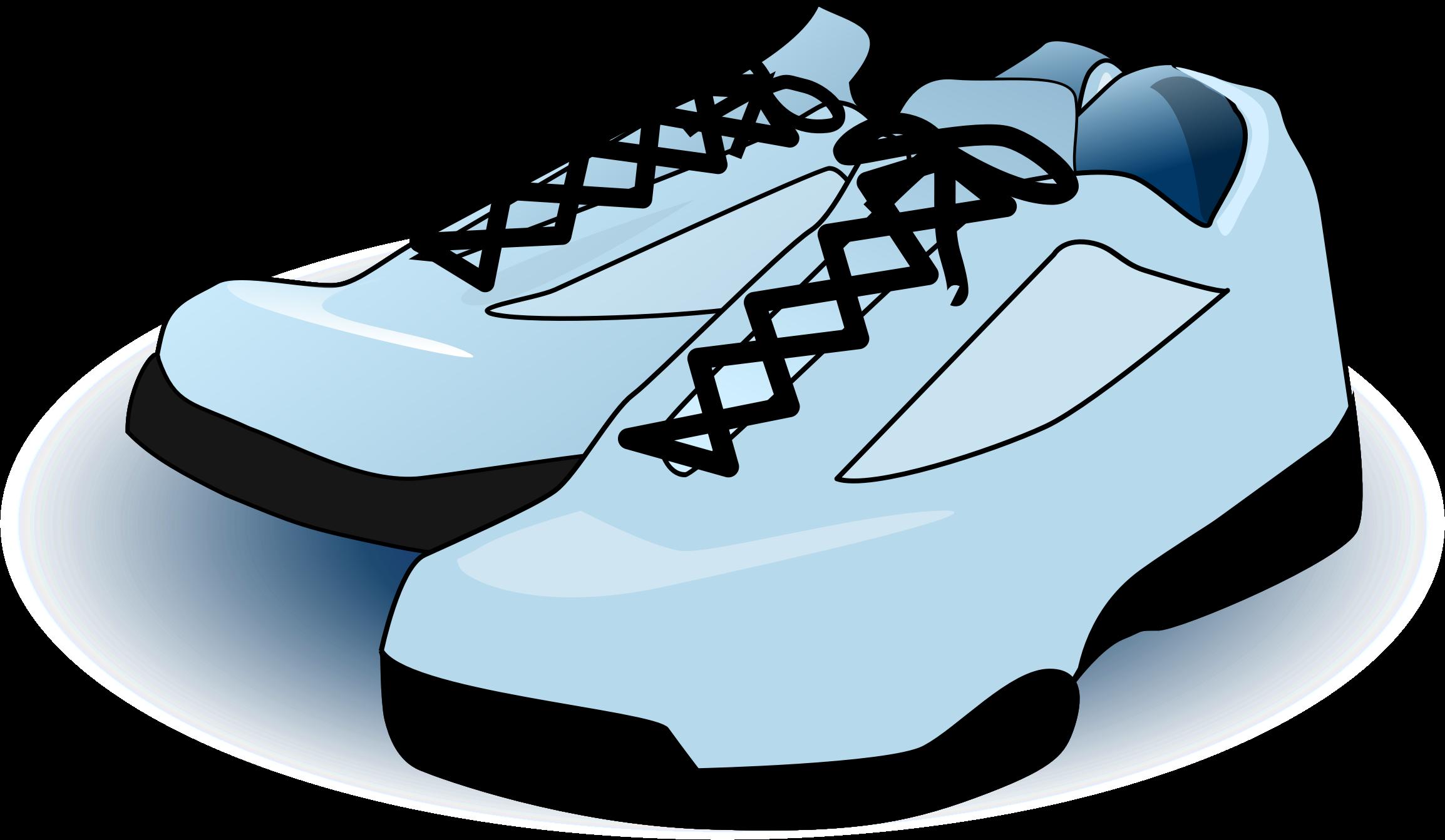 Tennis shoes big image. Clipart walking walking shoe