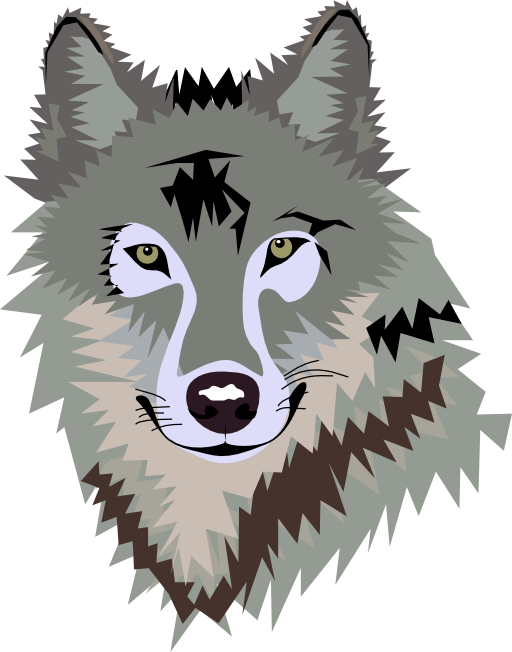Gray wolf clip art. Wolves clipart growl