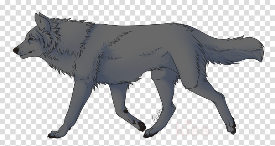 Fox drawing wolf illustration. Wolves clipart walking