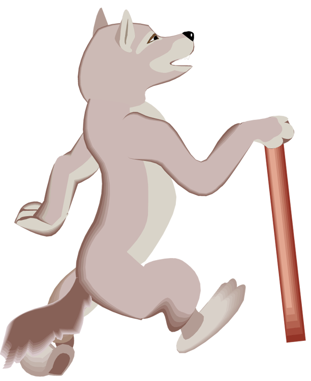 Free wolf. Wolves clipart walking