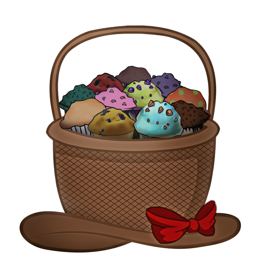 Water clipart basket. Supersized muffin hat by