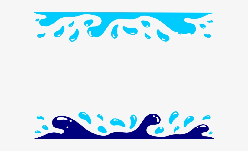 Wave border swimming clip. Water clipart boarder