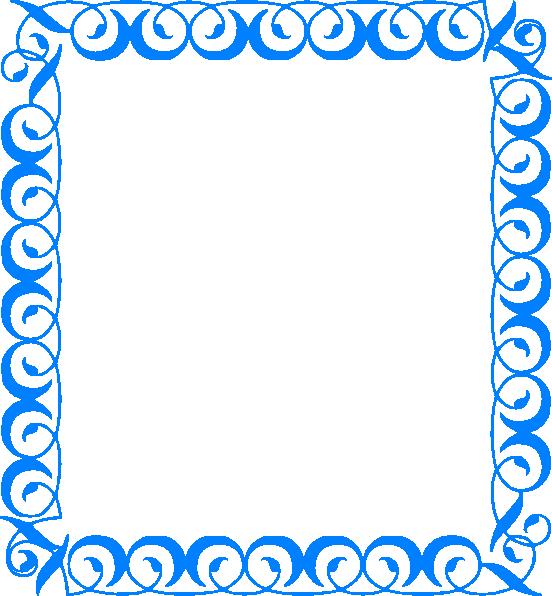 Blue border rj clip. Water clipart borders
