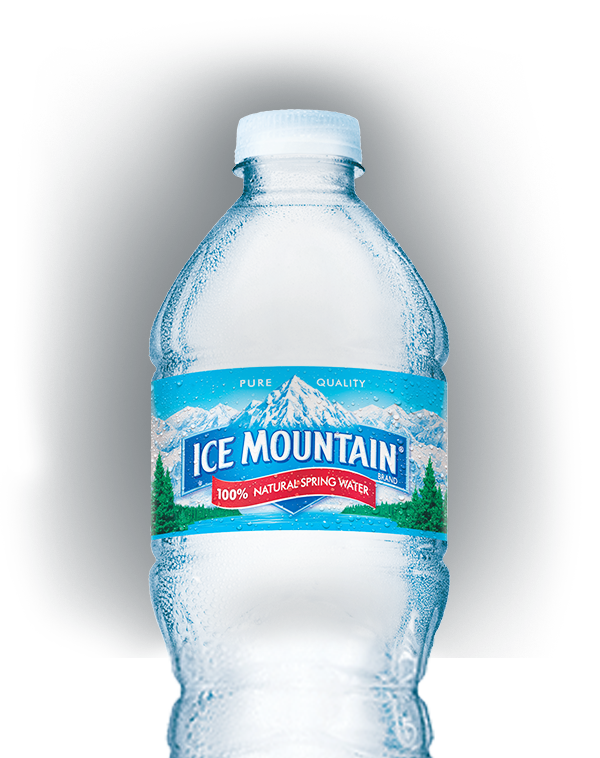 Bottled ice mountain brand. Water clipart distilled water