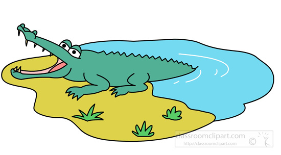 Water clipart crocodile. Jumping out of portal