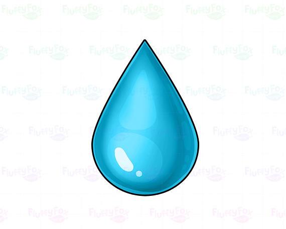 Drop droplet cute rain. Raindrop clipart water life