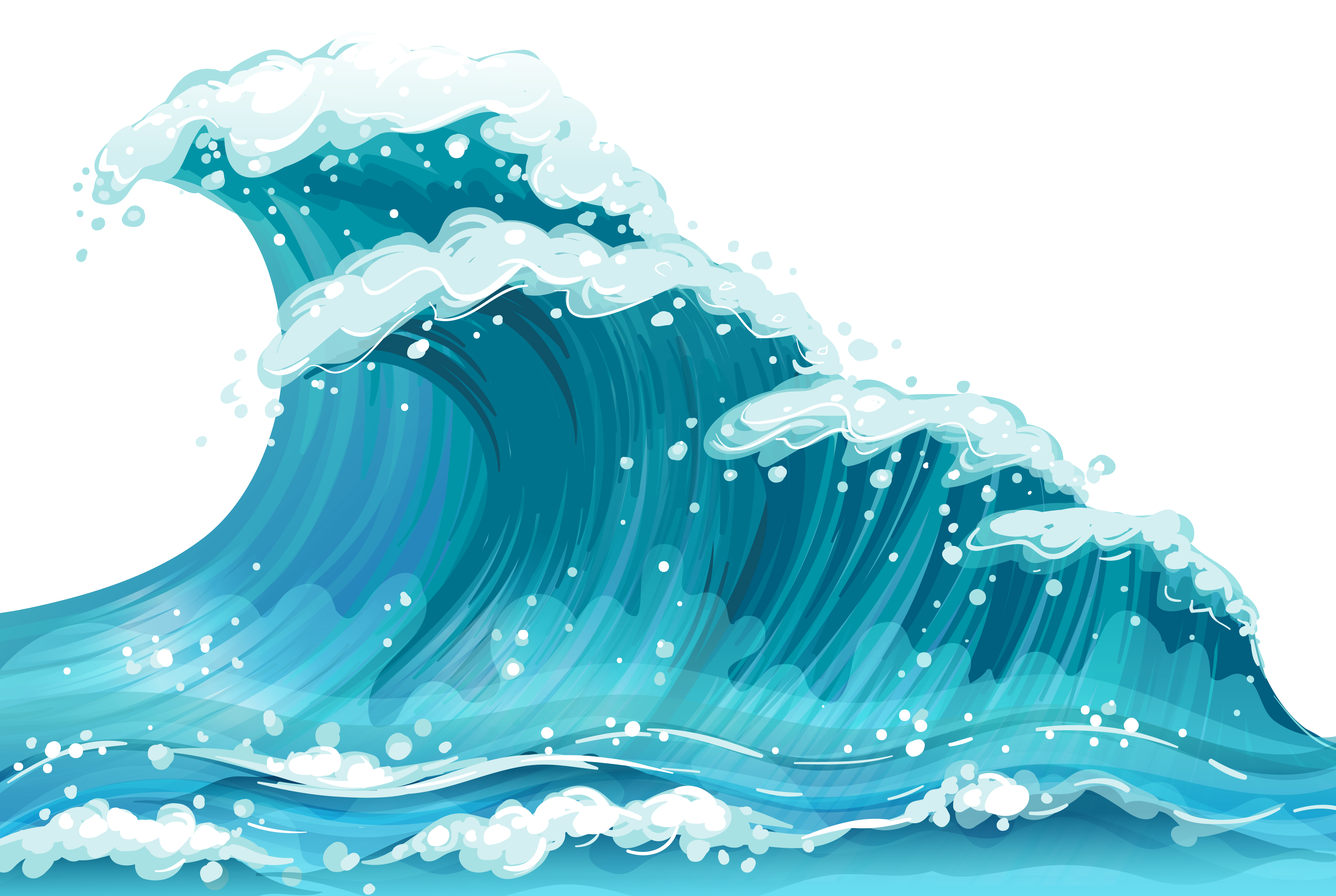 Waves clipart three. Group png clipartxtras