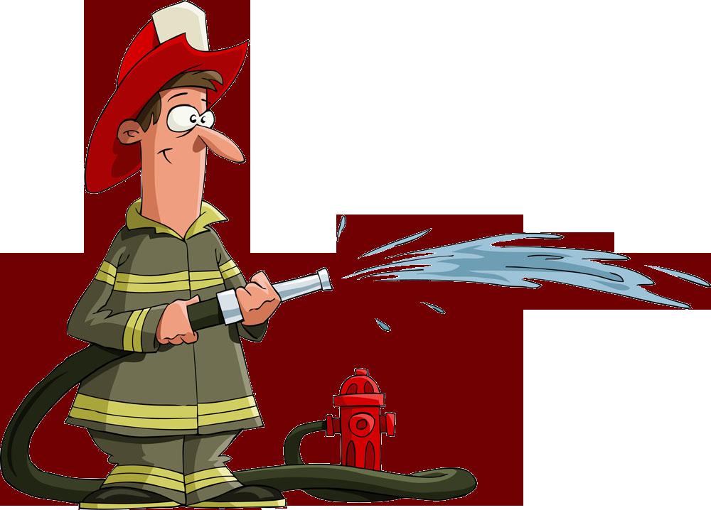 Firefighter fire hose royalty. Clipart water fireman