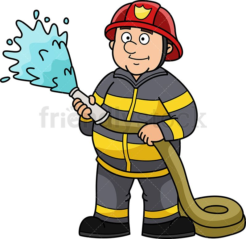 Clipart water fireman. Pin on vector illustrations