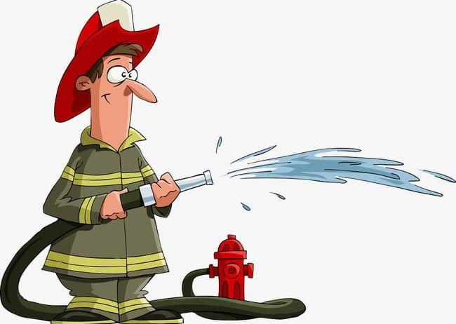 Clipart water fireman. Cartoon png
