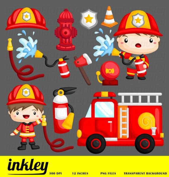 Firefighter clipart different occupation. Fireman job clip art