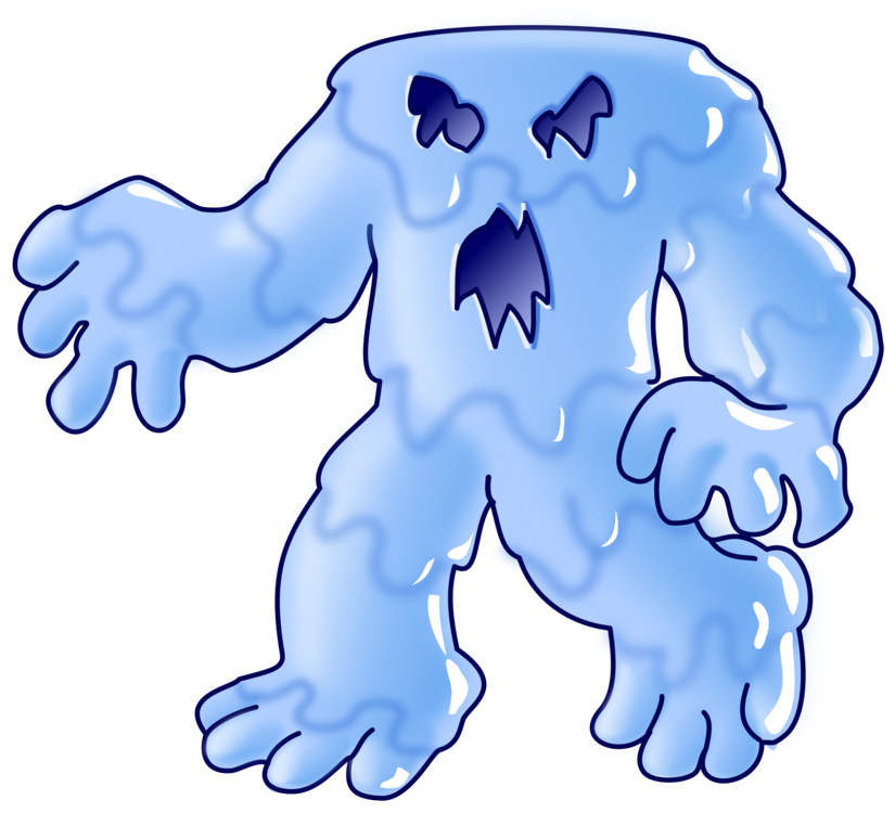 Organ area animal figure. Monster clipart water