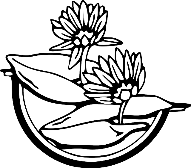 Clipart water outline. Flowers drawing at getdrawings
