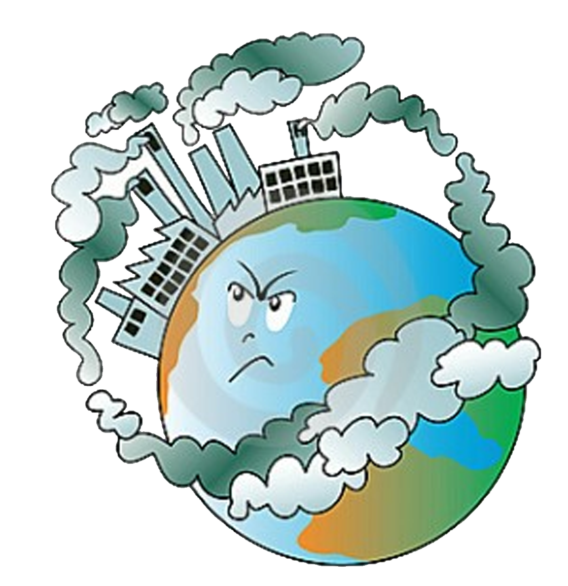 Air pollution soil contamination. Water clipart polluted