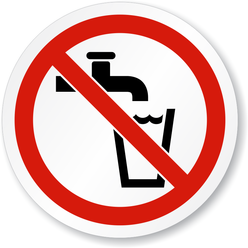 Not drinking symbol iso. Clipart water potable water