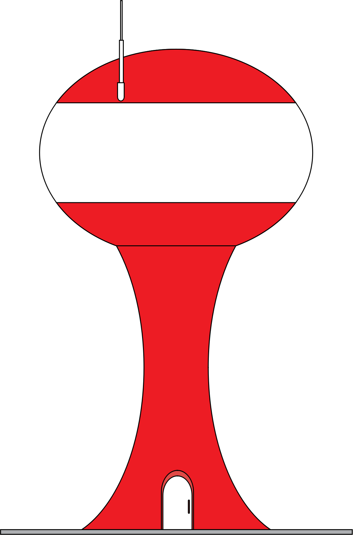 Water clipart red. Tower big image png