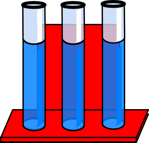 Water clipart red. Test tubes in stand