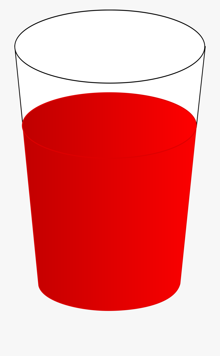 Water clipart red. Drinking glass with big