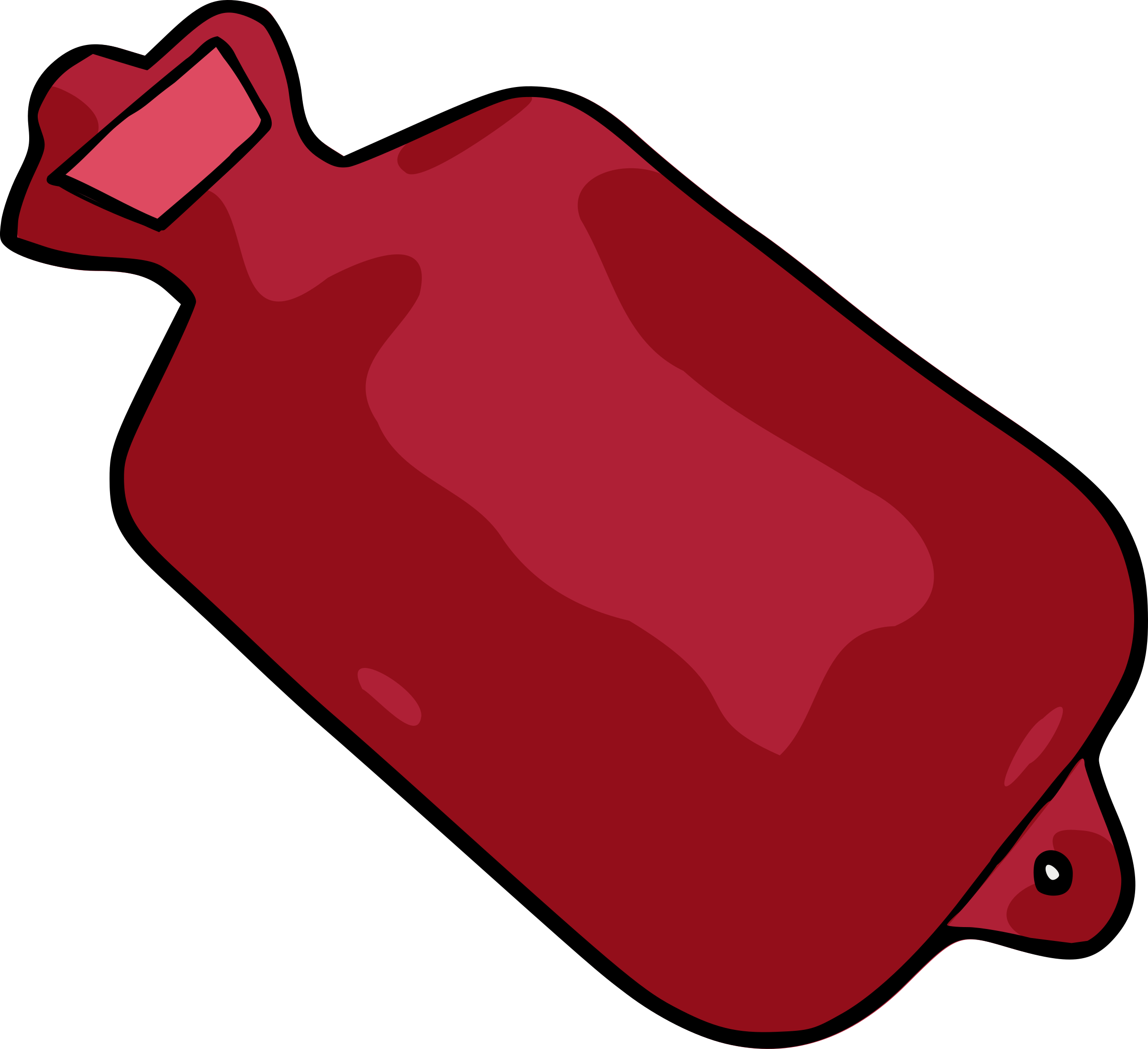 Hot water bottle big. Heat clipart cartoon