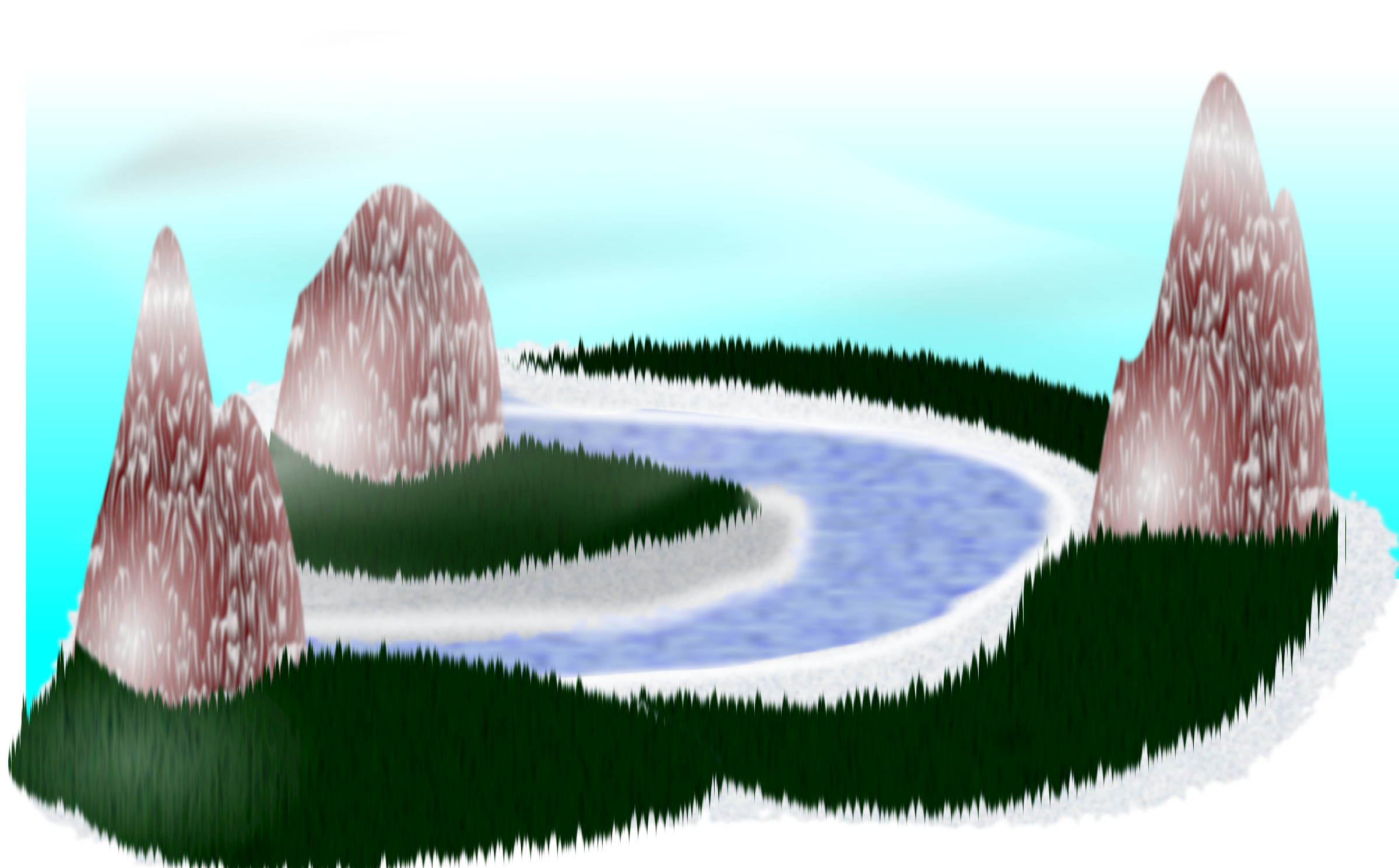 Rpg scenery big image. Landscape clipart simple landscape
