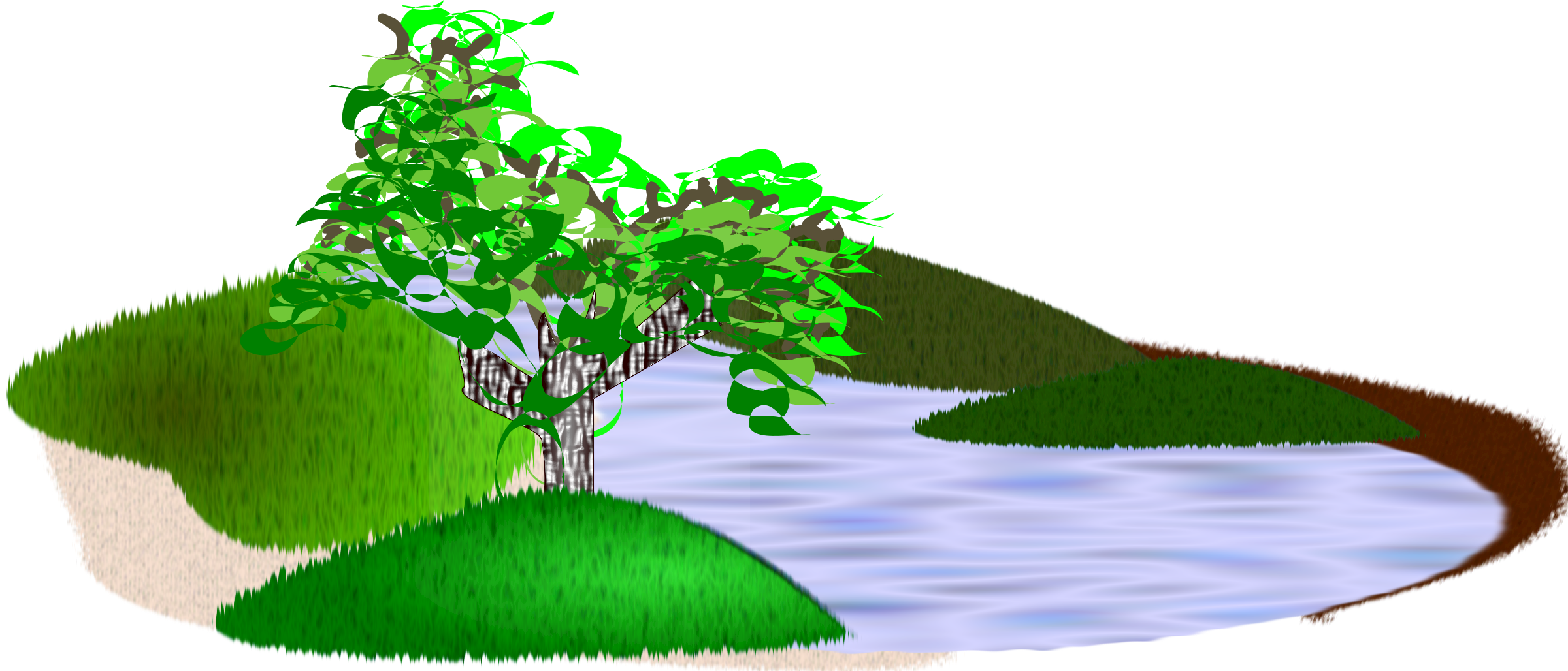 Water clipart scenery. Simple big image png