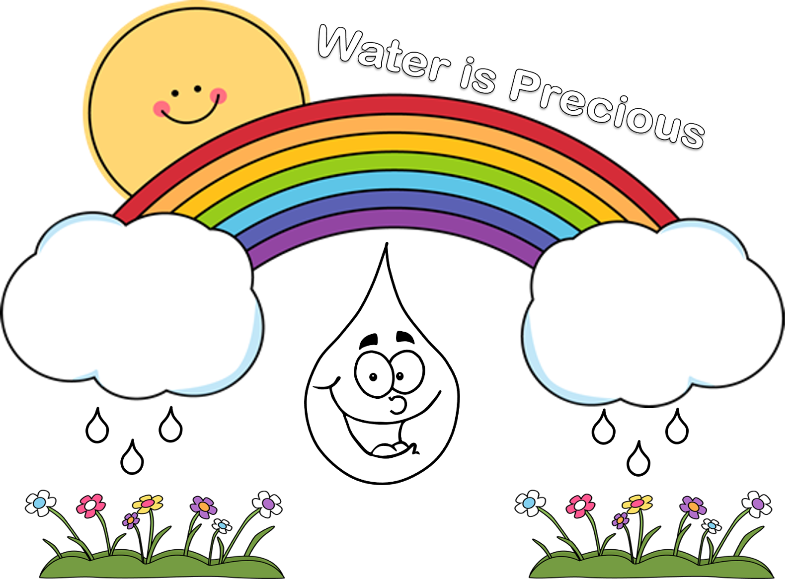 Raindrop clipart liquid. Poster for water conservation