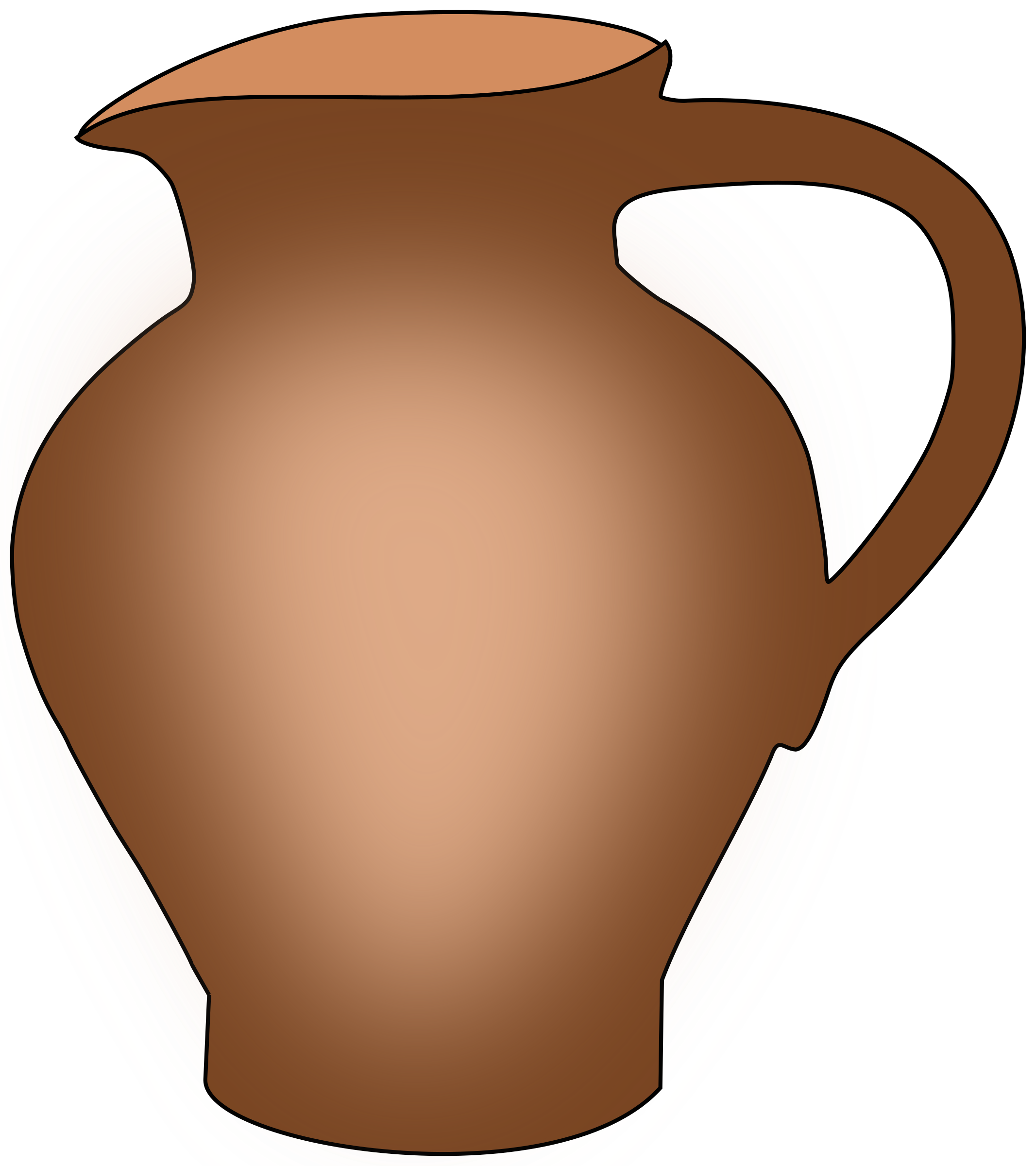 Ceramic pot big image. Water clipart simple