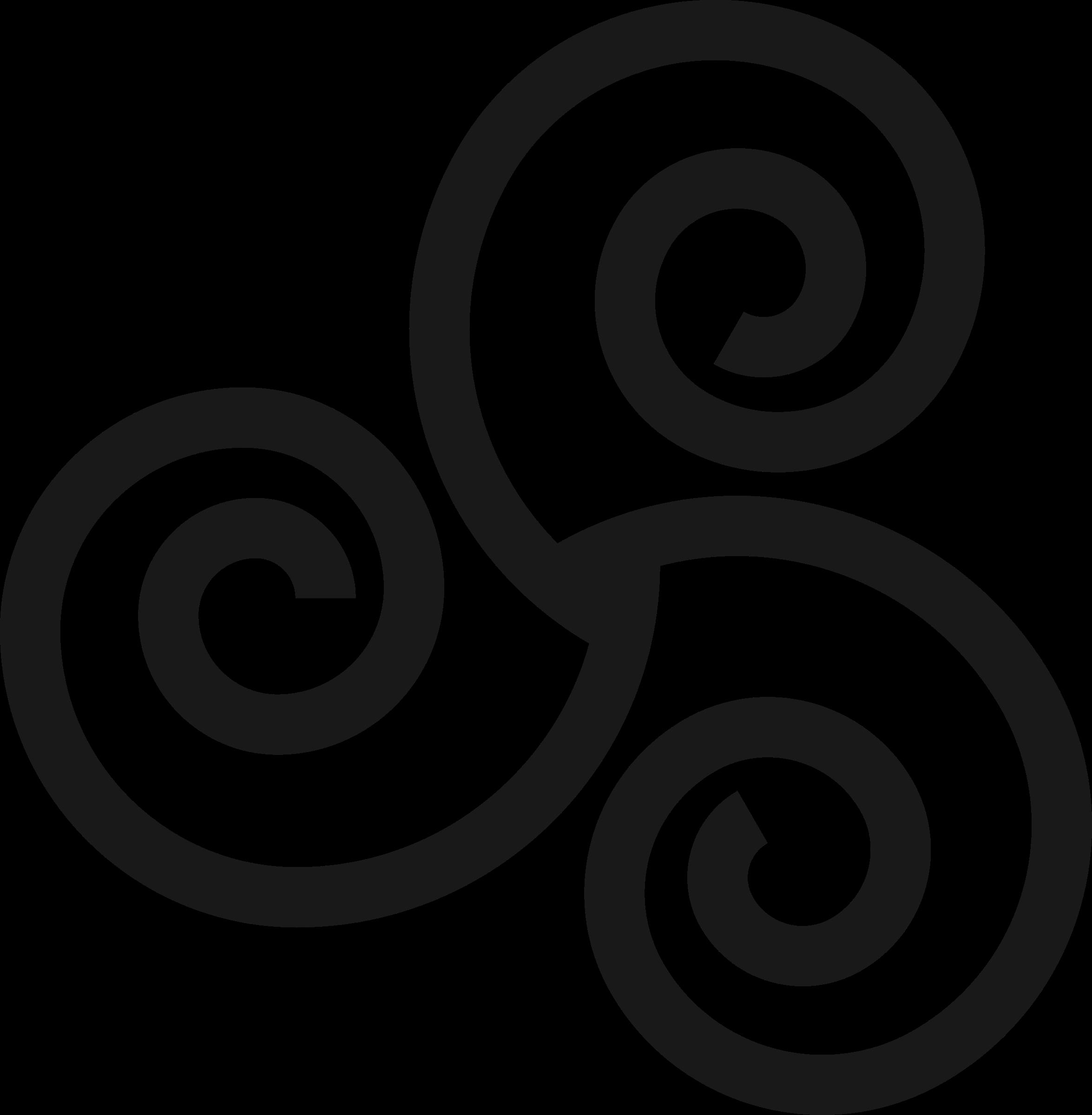 Triskelion. Water clipart spiral