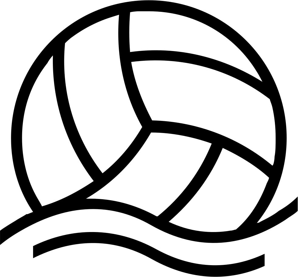 Ball floating outlined sportive. Water clipart volleyball