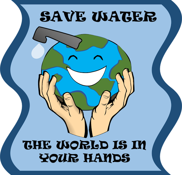 Race clipart fortunate. Poster for water conservation