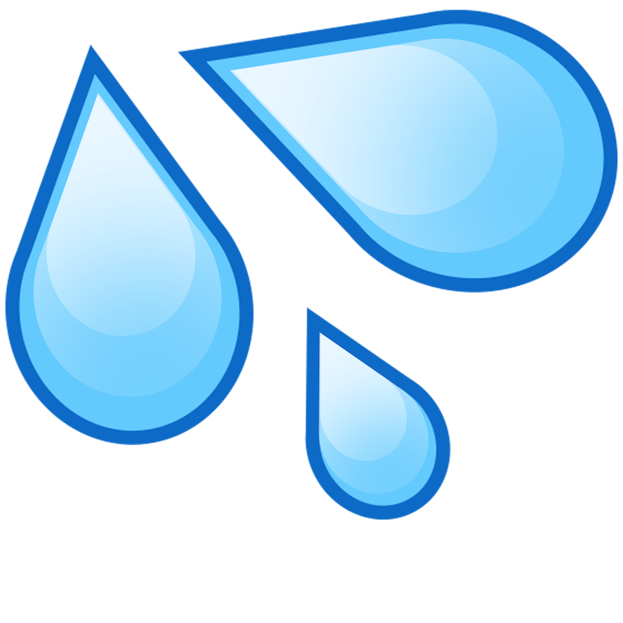 Clipart water water droplet. Drop emoji cutouts oversized