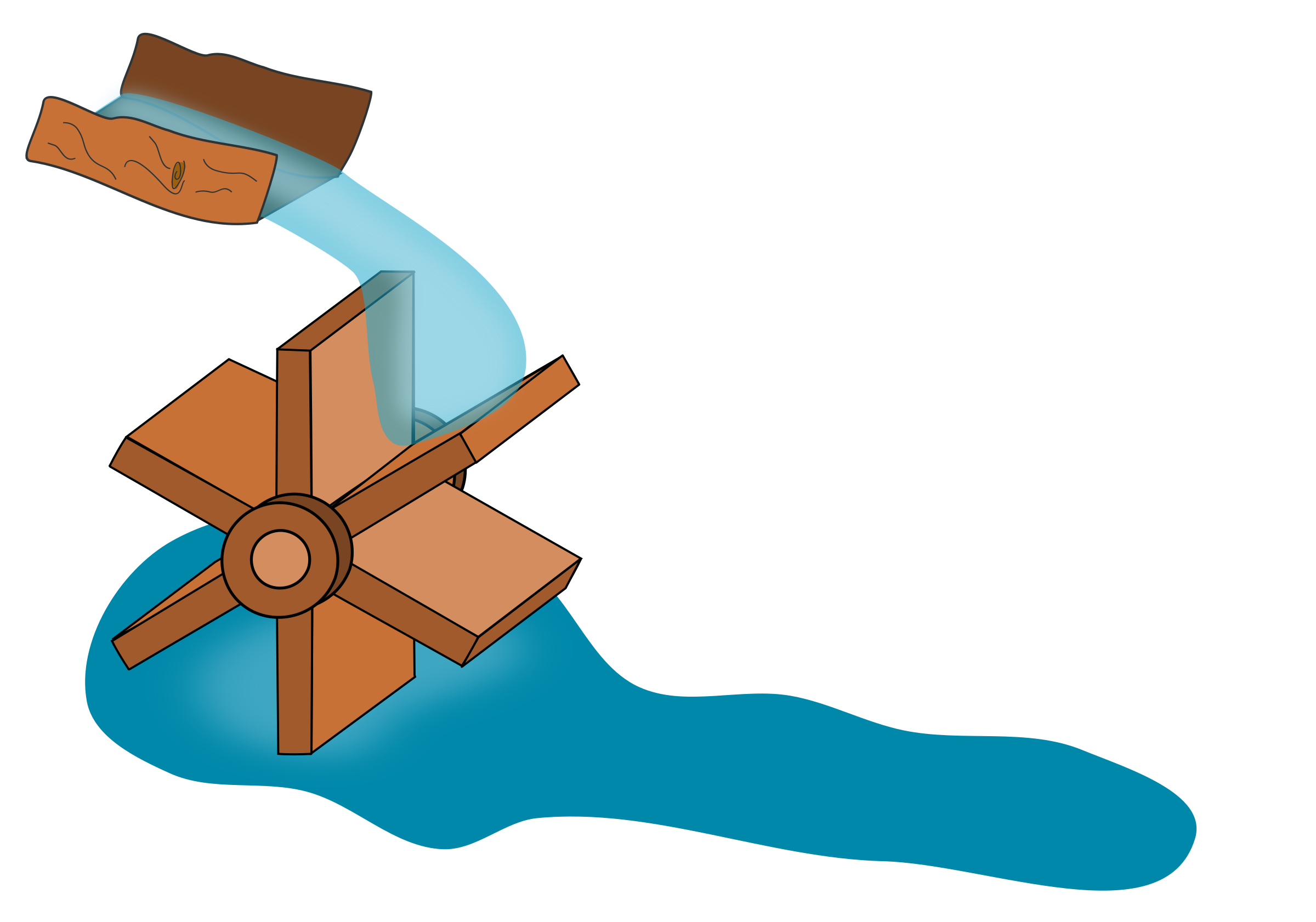 Water wheel big image. Therapy clipart psychosocial