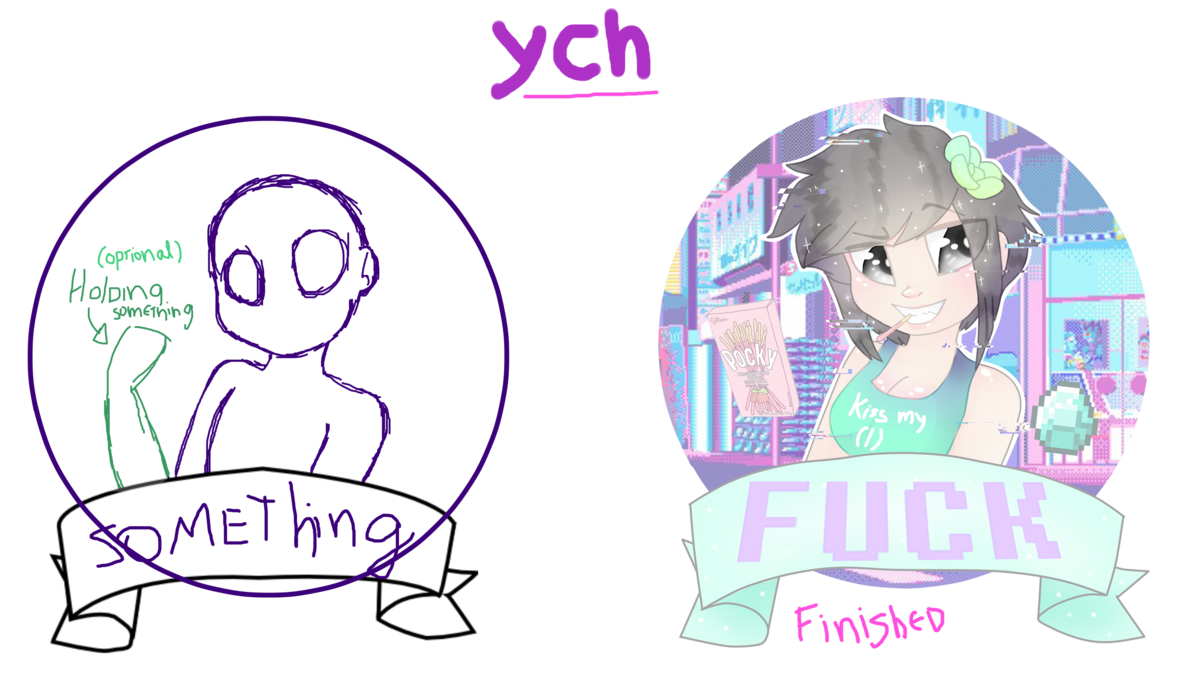 Youtube clipart vaporwave. Aesthetic ych by stariaat