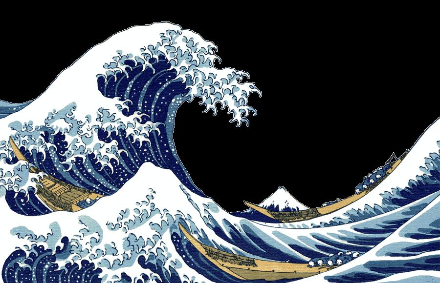 Shiki aesthetic japanese japan. Clipart waves transparent tumblr