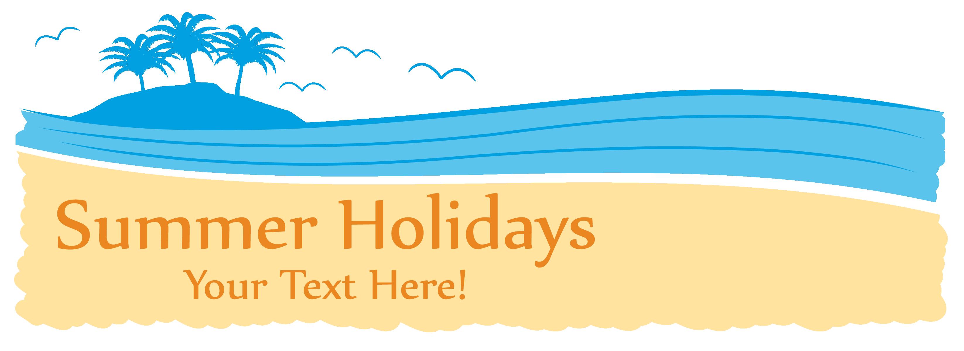 Web beach coconut tree. Clipart wave banner