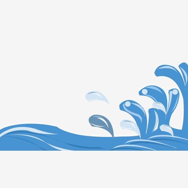 High tide flower waves. Clipart wave big wave