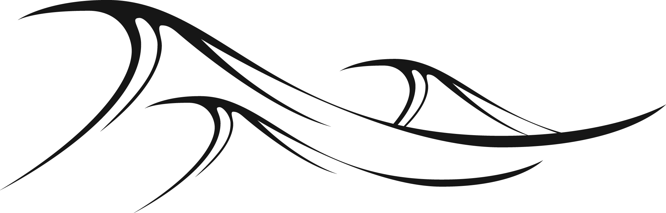 Waves clipart black and white. Free wave cliparts download
