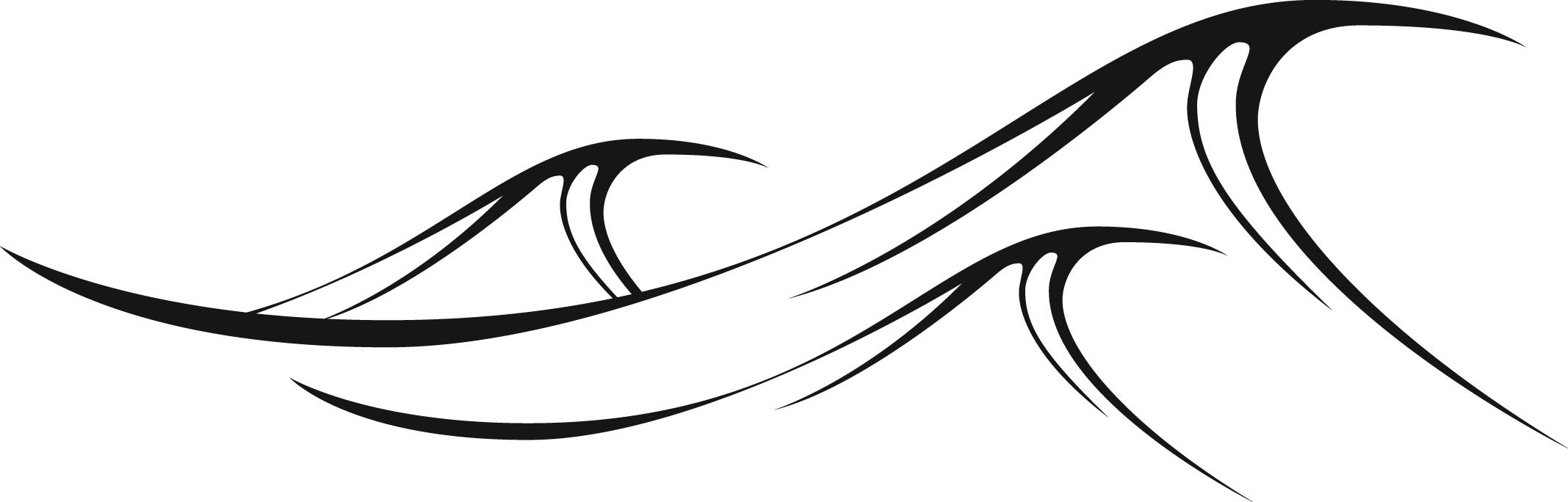 Clipart waves black and white. Ocean free download best