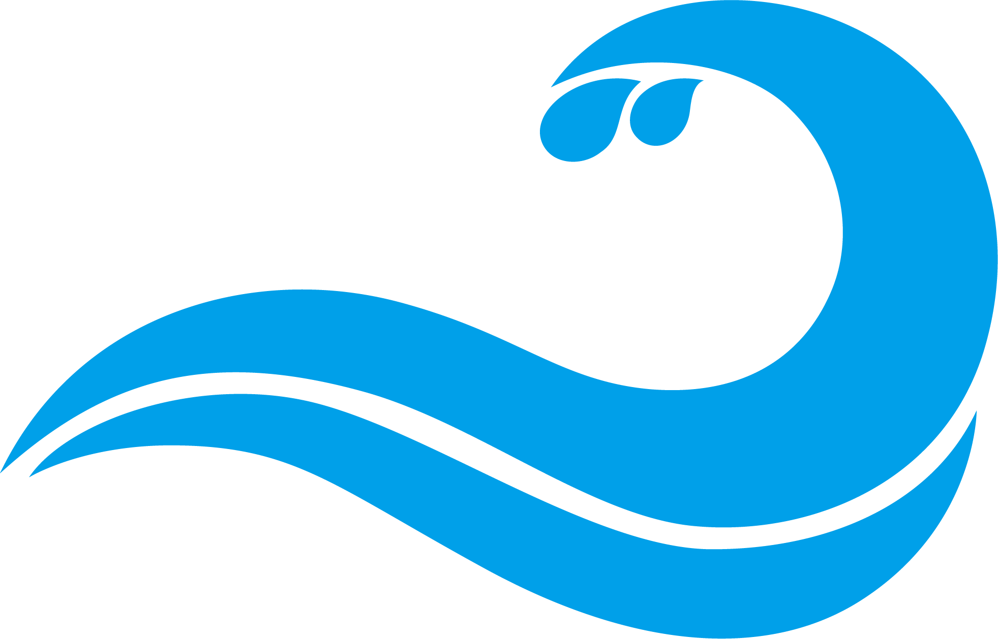 Waves clipart symbol. Blue wind wave drawing