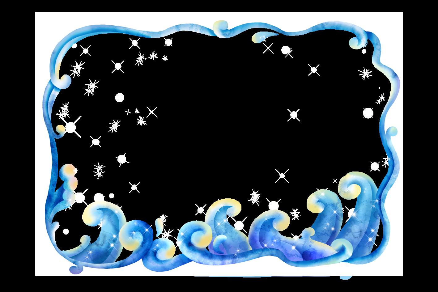 Waves clipart frame. Download clip art border