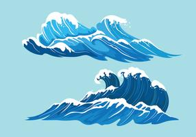 Waves free vector art. Clipart wave choppy water