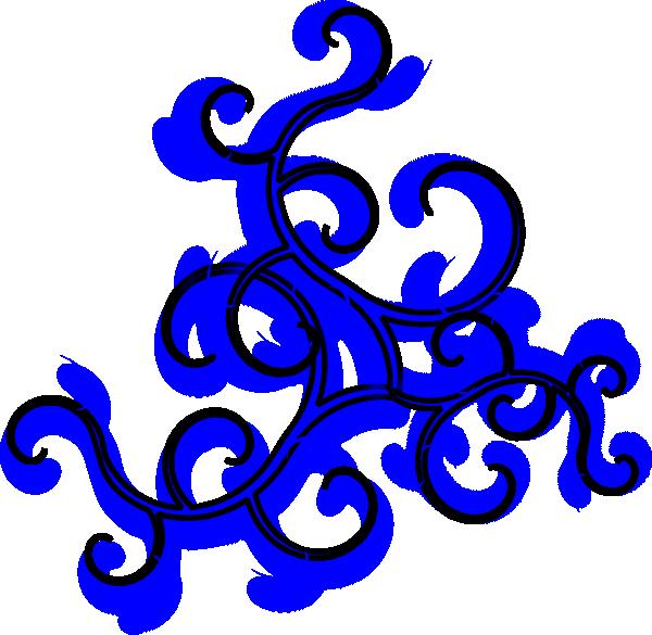 Swirls blue clip art. Clipart wave curl