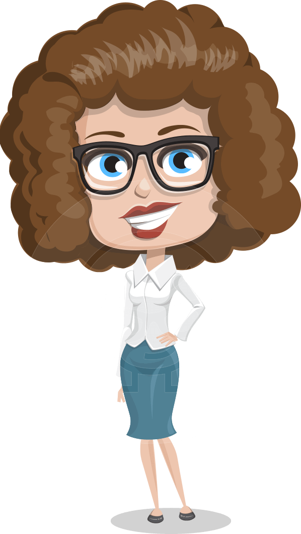 Vector fluffy hair woman. Fever clipart female patient